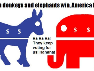 Rocky's Politics 101: Lesson #4: When Donkeys and Elephants win, America loses.