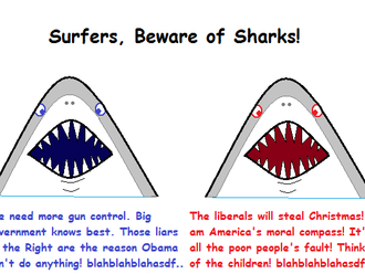 Rocky's Politics 101: Lesson #3: Surfers, Beware of Sharks!