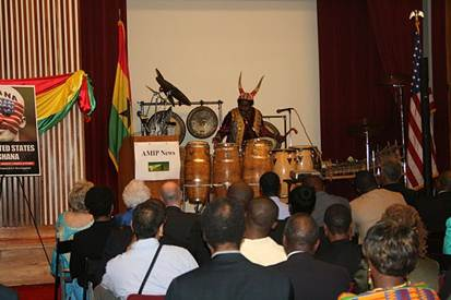 Kenya Drummer at NYASA Conference
