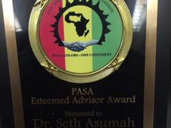 PASA Faculty Excellence Award