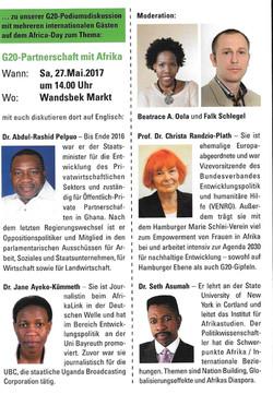 Africa Day - German Panel G20