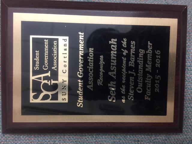 SUNY Cortland - SGA award