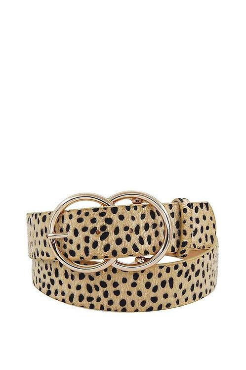 Leopard fur fashion belt