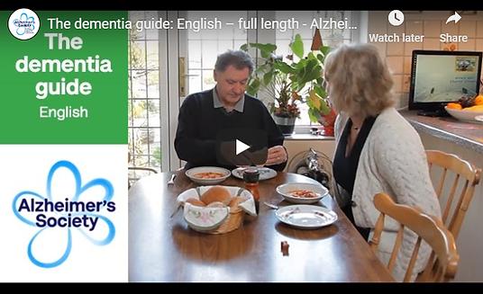 dementia guide alzheimer's society brist