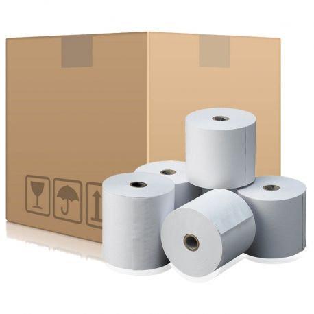 Caja c/50 rollos de papel térmico 80x80 mm