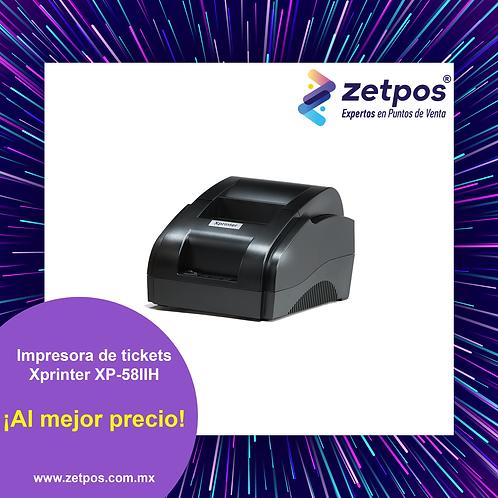 Impresora térmica de tickets 58 mm Xprinter XP-58IIH6 BLUETOOTH