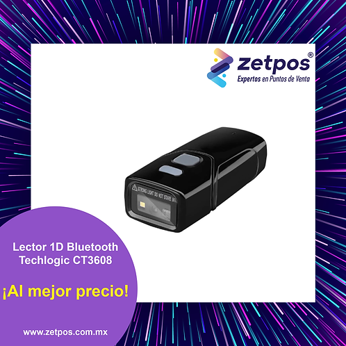 Lector de códigos 1D Bluetooth Techlogic CT3608