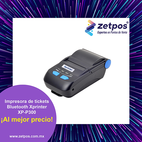 Impresora térmica de tickets 58 mm Xprinter XP-P300 BLUETOOTH