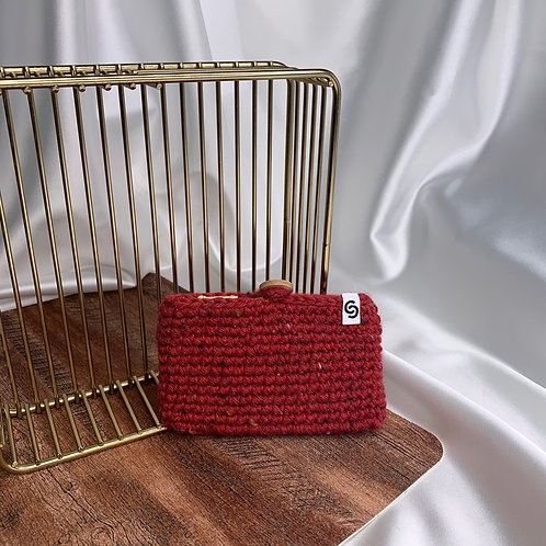 Card Case (Red Tweed Wool)