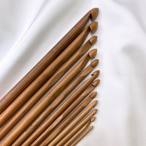 Carbonized Bamboo Crochet Hooks