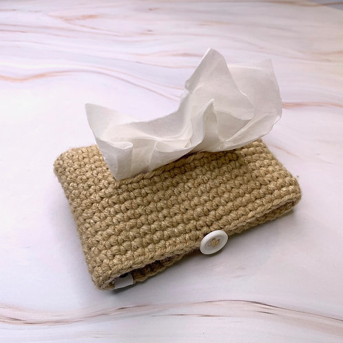 Tissue Packet Holder (Bleached Denim)