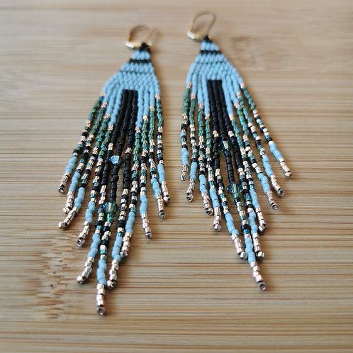 Not-So-Subtle Sage Fringe Earrings