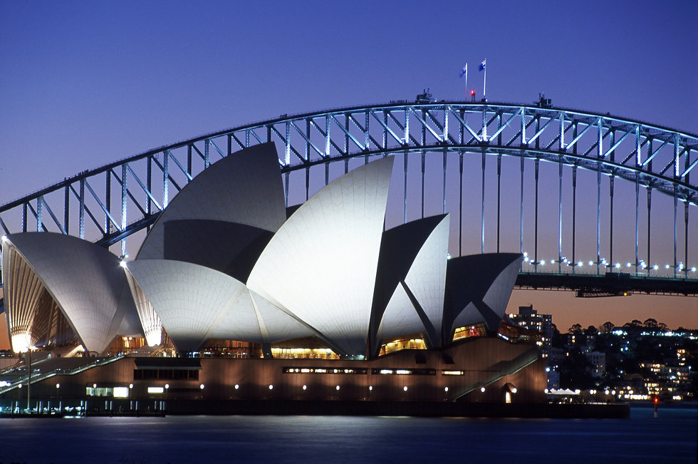 Sydney twilight opera house