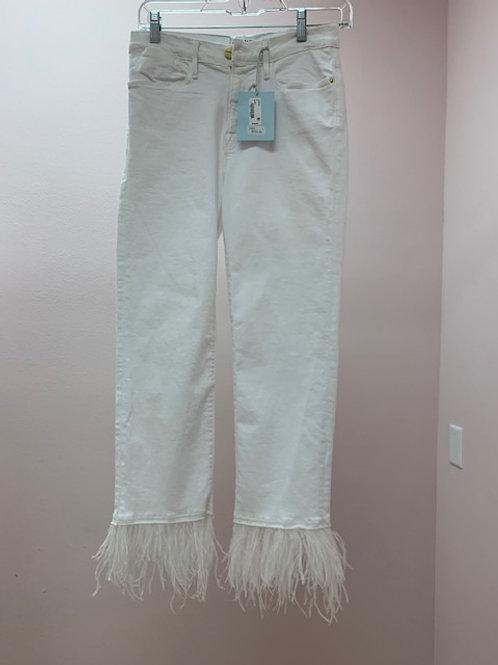 Frame White Feather Bottom Jean