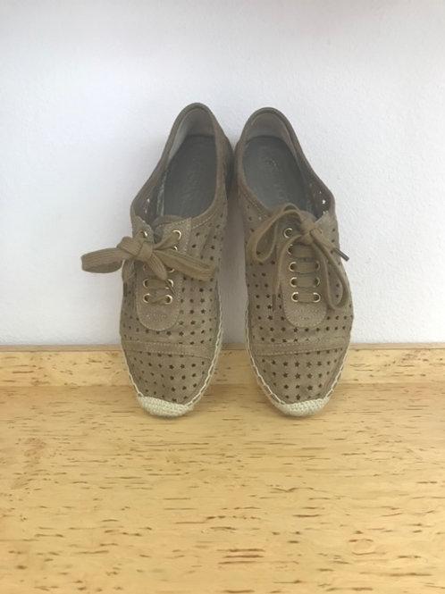 Jimmy Choo Beige Suede Sneaker