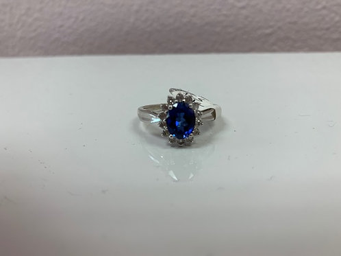 Simple Blue Stone Ring