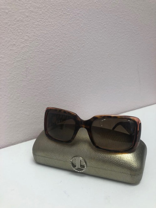 Judith Lieber Brown Jeweled Sunglasses
