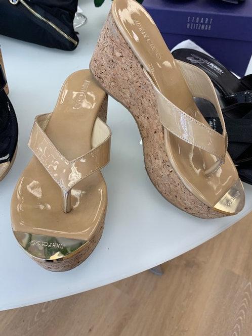 Jimmy Choo Tan Wedge Sandal