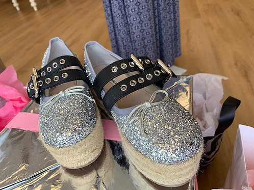 Miu Miu Sparkle Wedge Sneaker