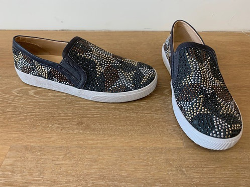 Vince Camuto Grey Star Studded Sneaker