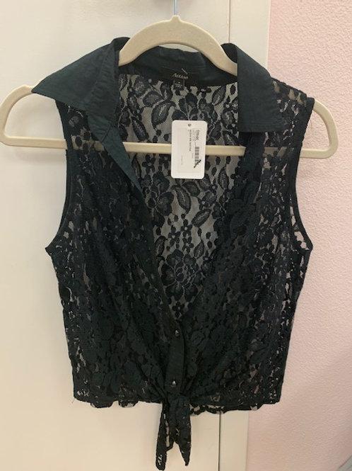 Active Black Lace Top