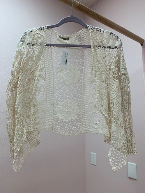 Issi Off White Crochet Shrug