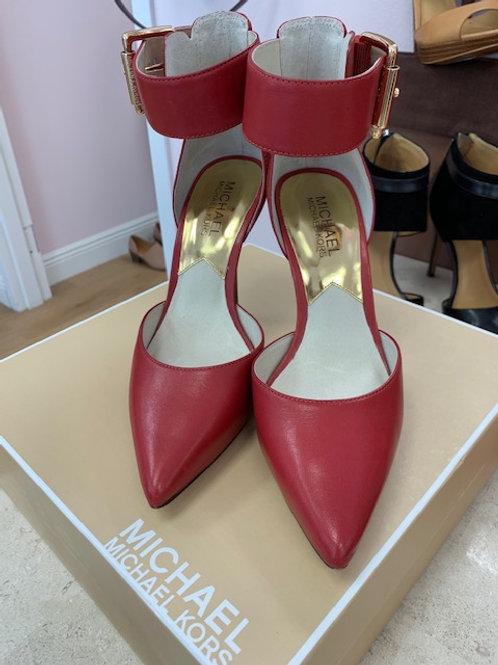 Michael Kors Red Wooden Heel
