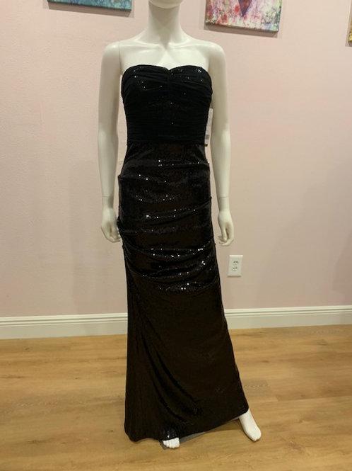 Nicole Miller Black Sequin Gown
