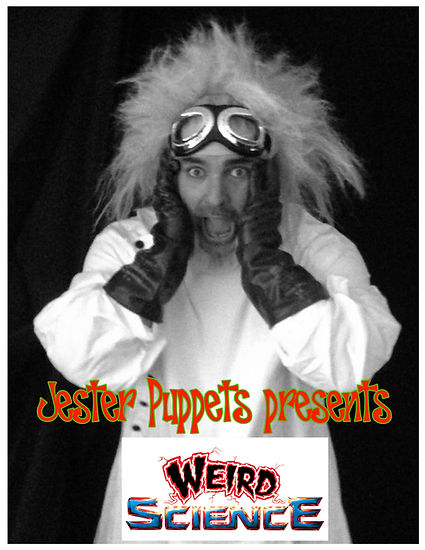 """Jester Puppets presents """"Weird Science"""" summer reading program in 2012."""