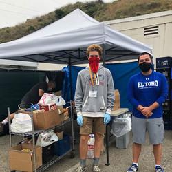 Laguna Food Pantry receives 360 lbs. of Groceries from the El Toro Boys Basketball team