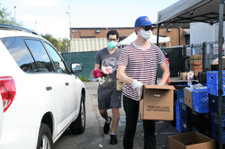 Laguna Food Pantry needs face masks and sturdy bags for their drive-through distribution