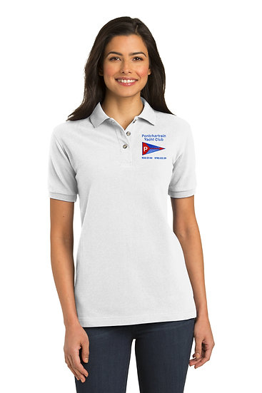 Port Authority® Ladies Heavyweight Cotton Pique Polo with Embroidered Logo