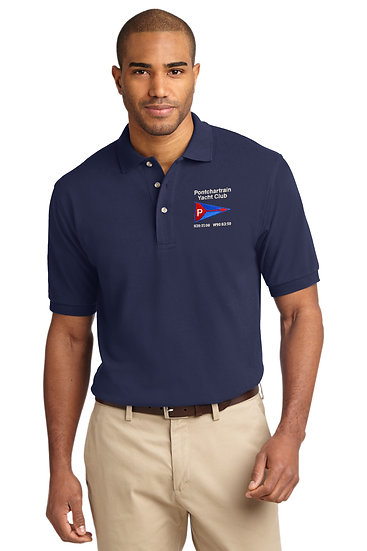 Port Authority® Heavyweight Cotton Pique Polo with Embroidered Logo