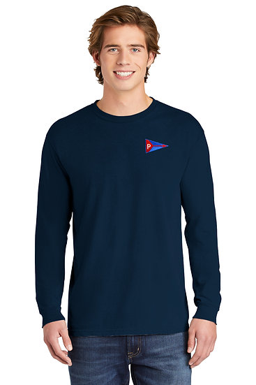 Comfort Colors ® Heavyweight Long Sleeve Tee with Embroidered Burgee