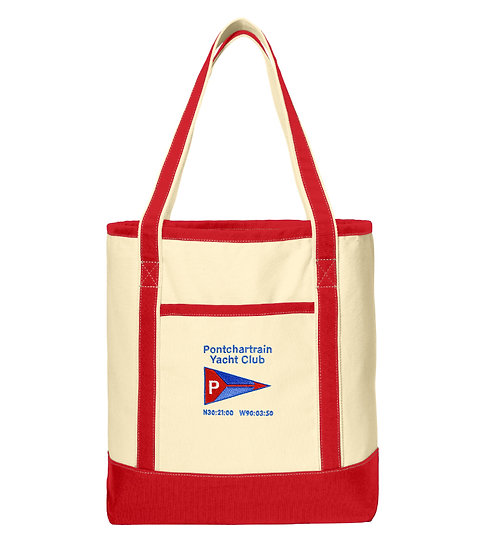 Port Authority® Large Cotton Canvas Boat Tote with Embroidered Logo