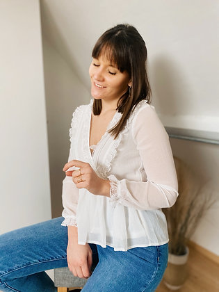 Blouse Evy blanche