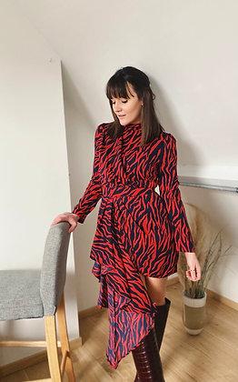Robe Zebra rouge