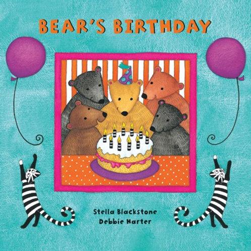 Bear's Birthday Book & Cuddly Bear Plush Set