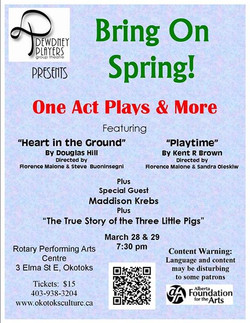 Bring on Spring  One Acts March 2014