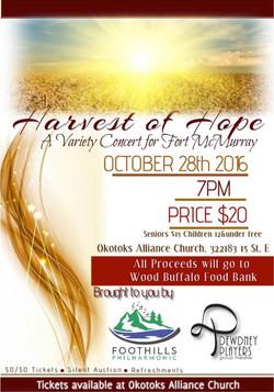 Harvest of Hope poster Oct 2016