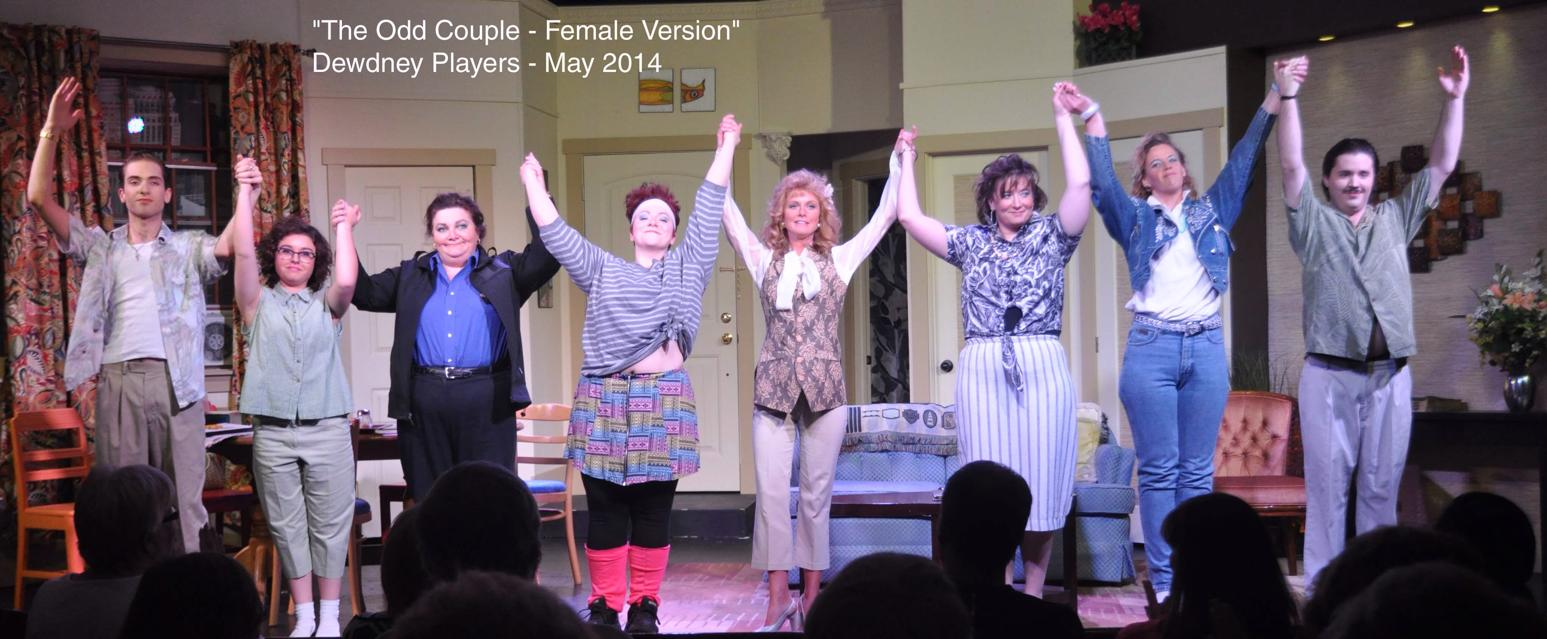 cast of Odd Couple Female Version May 2014