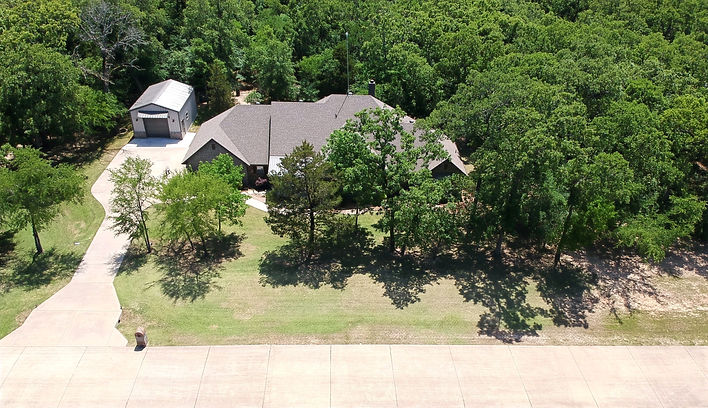 Aerial Photograph of a House and Land