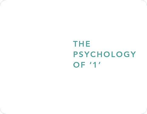 The Psychology of '1'