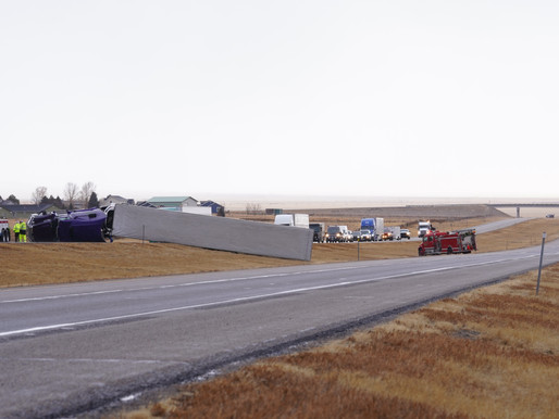 Overturned Semi Blocking Southbound Lane I-15 MM65