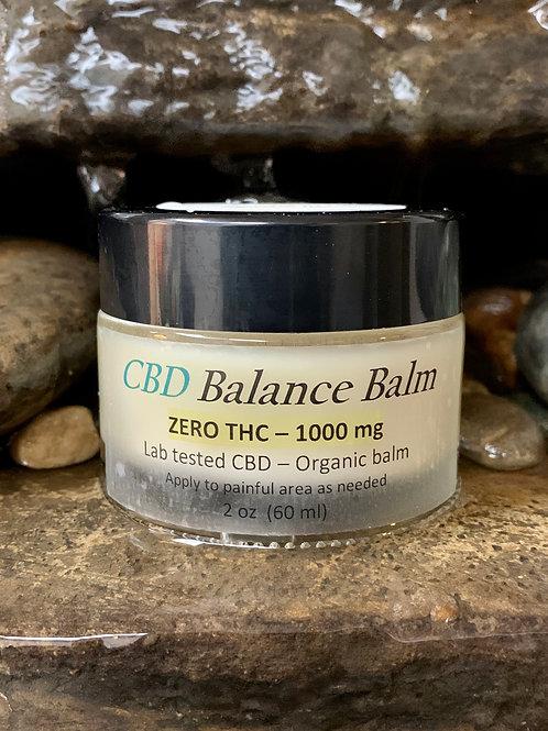 1000mg Organic CBD Balm (ZERO THC)