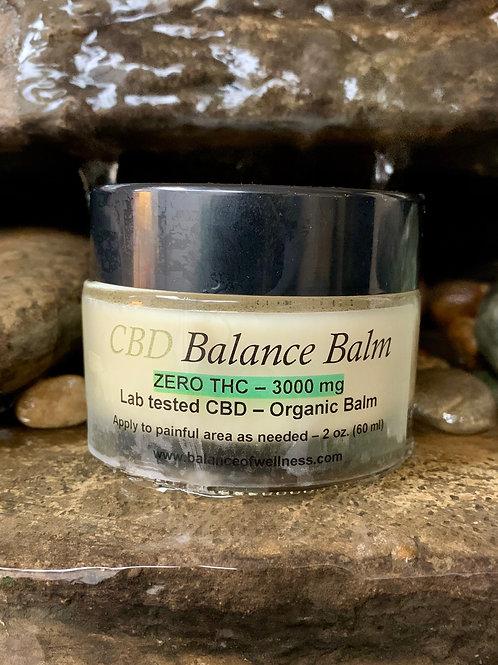 3000mg Organic CBD Balm (ZERO THC)
