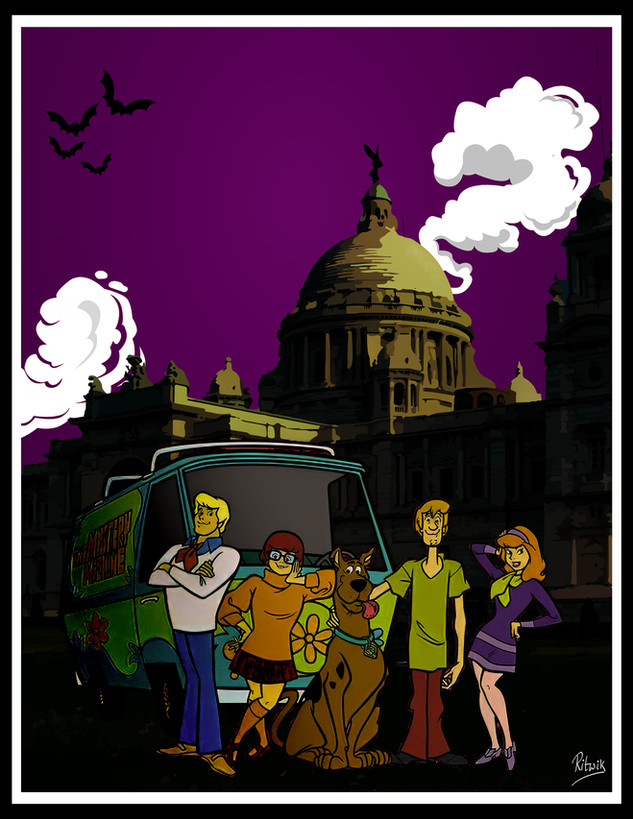 The Scooby gang in Calcutta