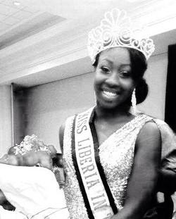 Miss Libeira US 2014-Moandra Johnson