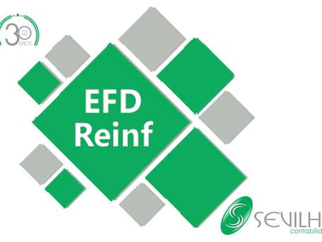 Está chegando a EFD-Reinf!