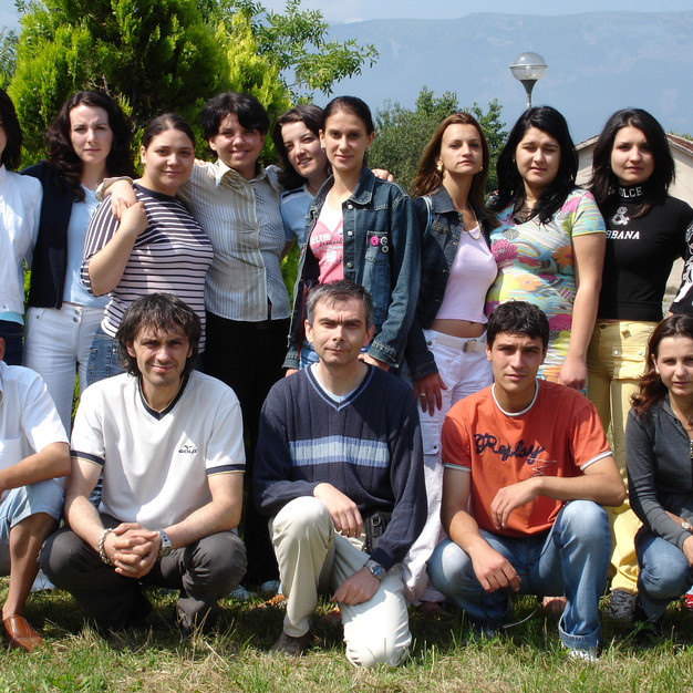 With my students (Agrocultural Faculty, University of Forestry, Sofia, 2005)